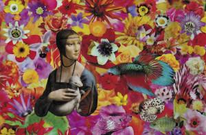 Dama con ermellino e pesce_2010_40x50 2