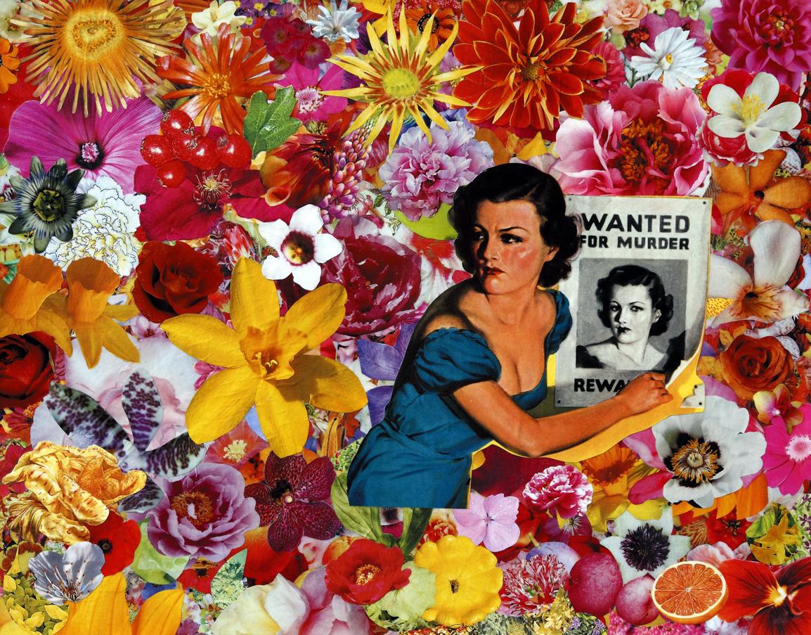 Nottetmpo, casa per casa, 2009, collage su carta, cm 40x50.