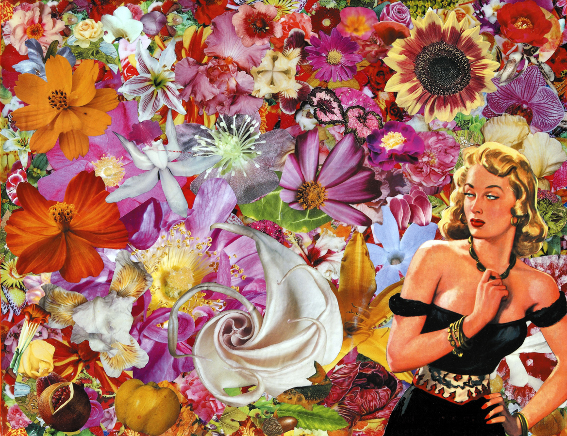 Troppo tardi, 2009, collage su carta, cm 40x50.