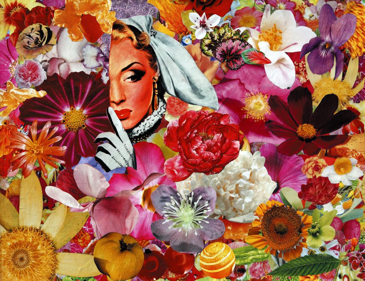 Tutto per caso, 2009, collage su carta, cm 40x50