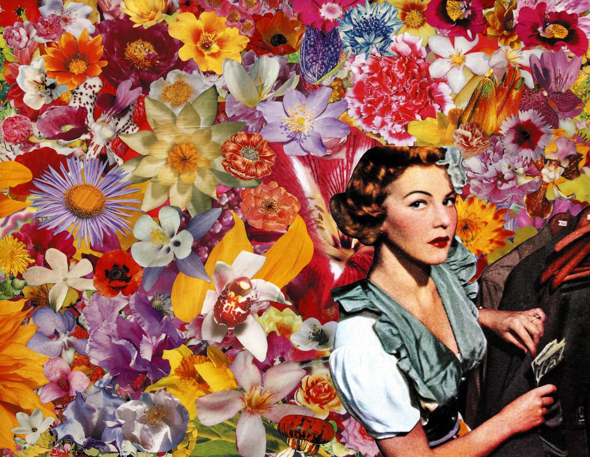 Un'idea improvvisa, 2009, collage su carta, cm 40x50