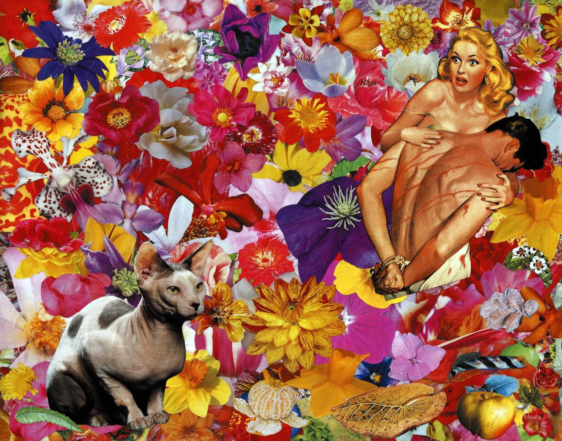 Una giornata particolare, 2009, collage su carta, cm 40x50