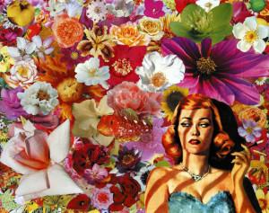 1L'esprit de l'escalier, 2009, collage su carta, cm 40x50